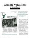 Wildlife Valuations 18 Years Later by Mary O Parker